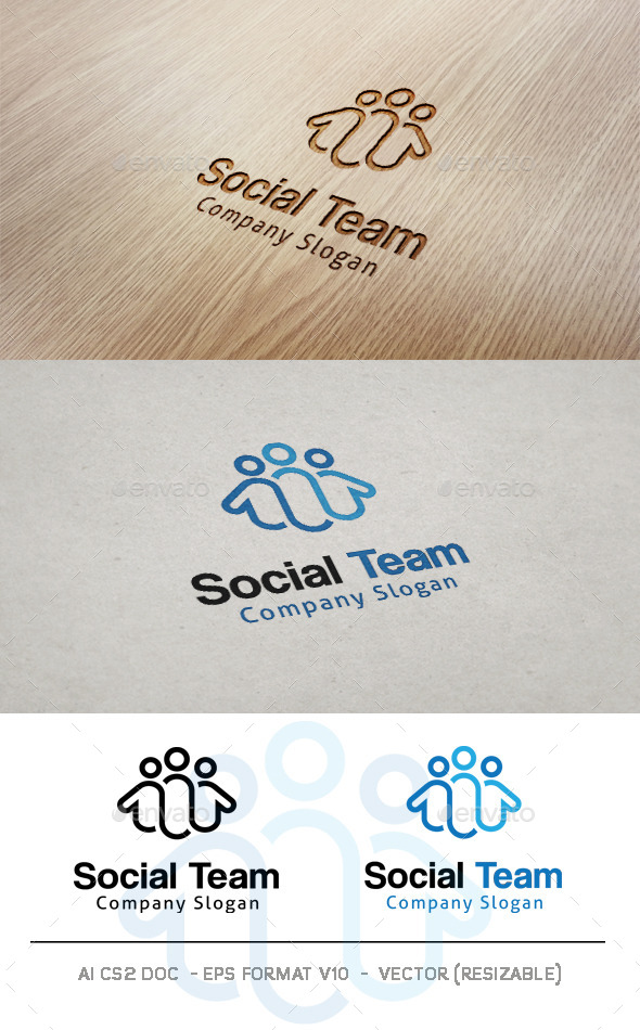 GraphicRiver Social Team Logo 10060231
