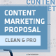 Clean Content Marketing Proposal - GraphicRiver Item for Sale