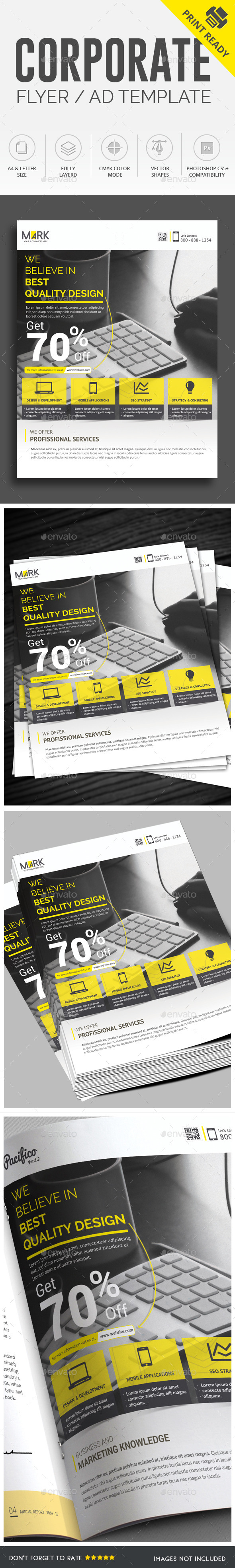 GraphicRiver Corporate Flyer AD Template 10003253