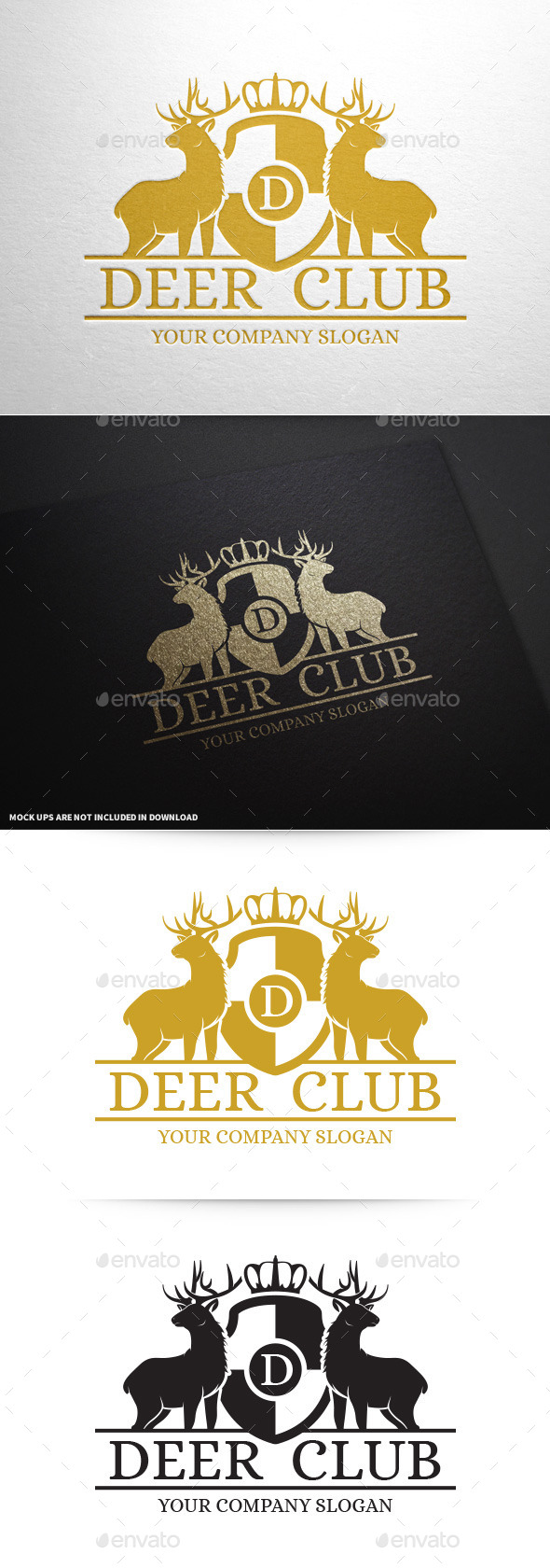 GraphicRiver Deer Club Logo Template 10060362