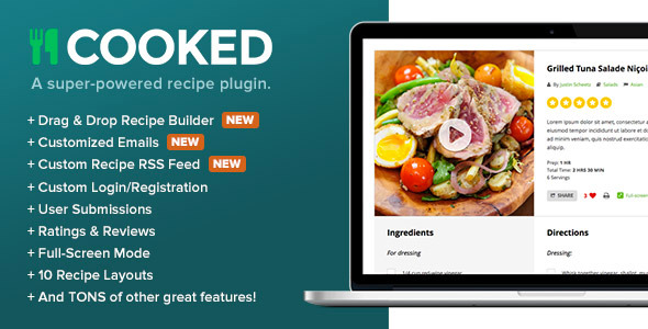 Cooked - A Super-Powered Recipe Plugin