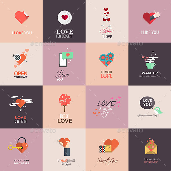 GraphicRiver Happy Valentines Day Cards 10060492