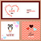 Set of Valentines Day Greeting Card Templates - GraphicRiver Item for Sale