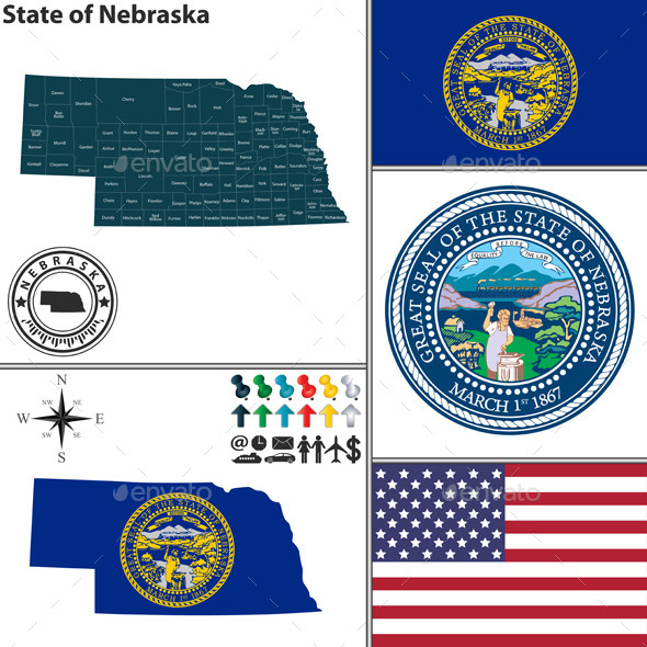 GraphicRiver Map of State Nebraska USA 10060562