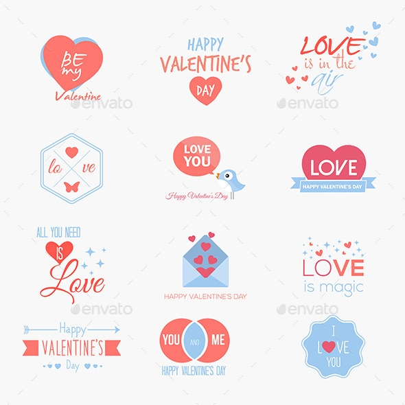 GraphicRiver Valentine`s Day Set 10060590