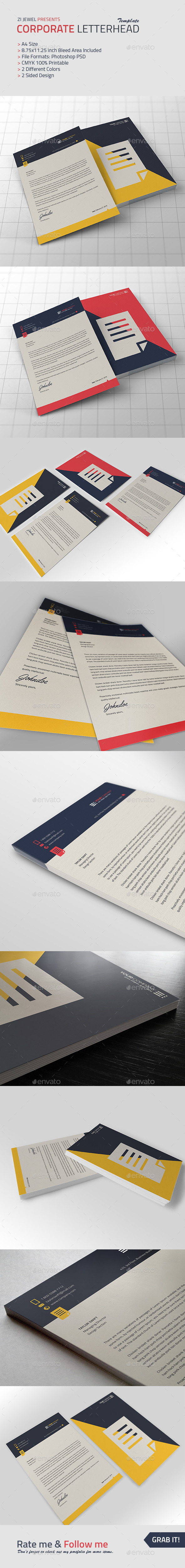 GraphicRiver Corporate Letterhead 10060706
