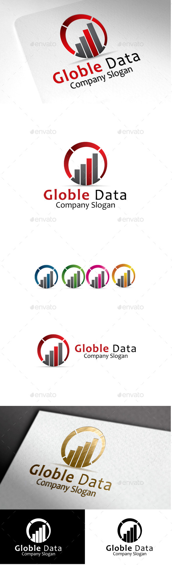 GraphicRiver Globle Data G & D Letter Logo 10060734