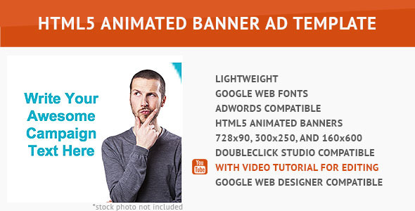 CodeCanyon Minimalist HTML5 Animated Banner 10061056