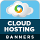 Cloud Hosting Service Banners - GraphicRiver Item for Sale