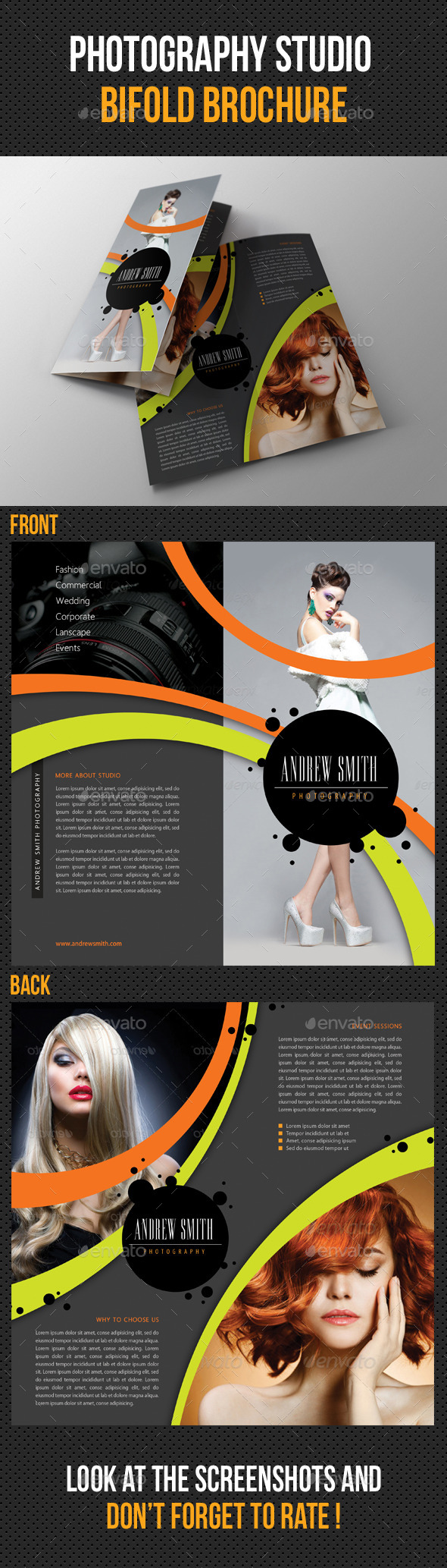 Photography Studio Bifold Brochure 04