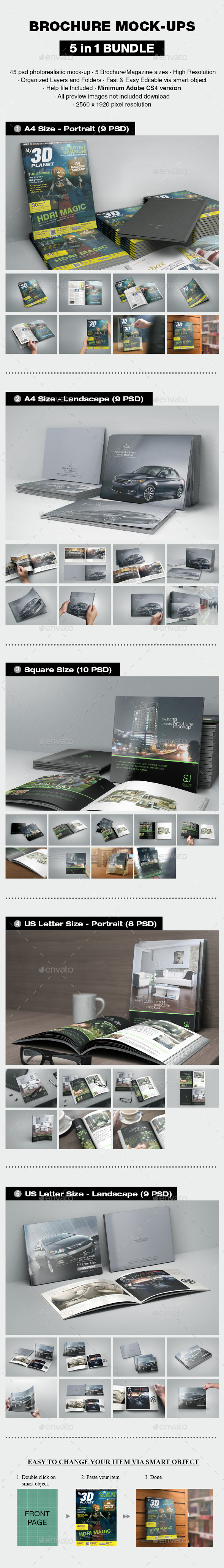 GraphicRiver Brochure Mock-up Bundle 10061301