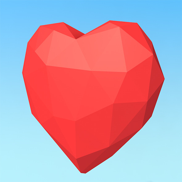3DOcean Low Poly Heart 10061393