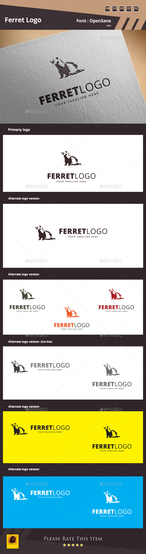 GraphicRiver Ferret Logo Template 10061715