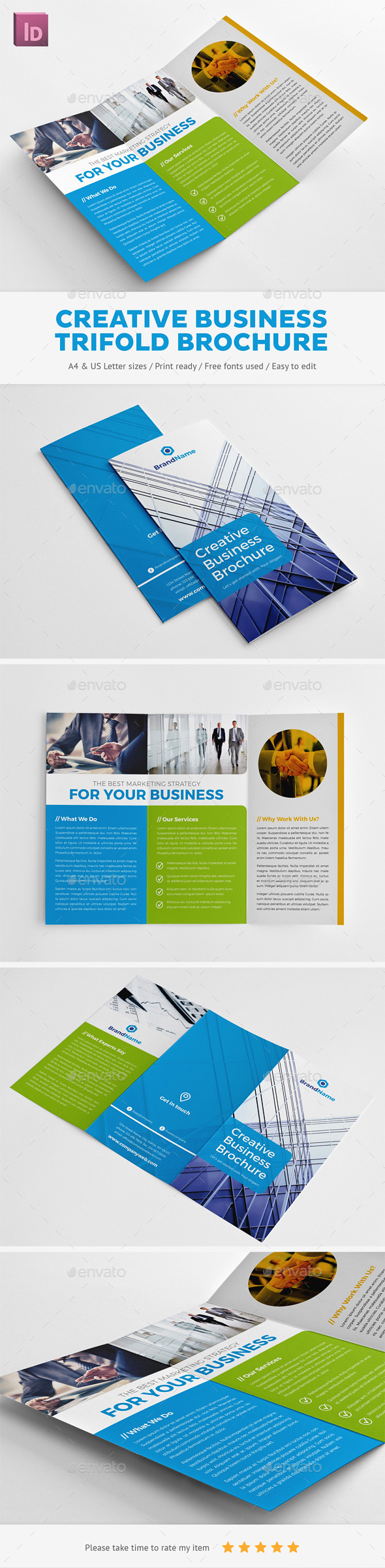 GraphicRiver Creative Business Trifold Brochure 10062114