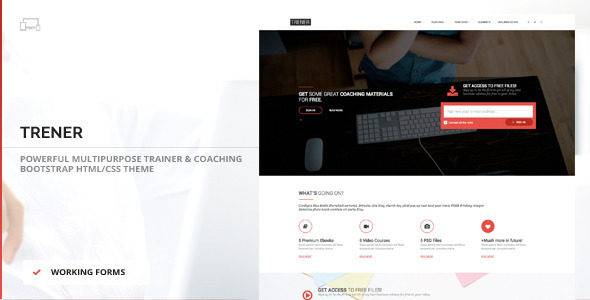 ThemeForest Trener Multipurpose Coaching & Training Theme 10006315
