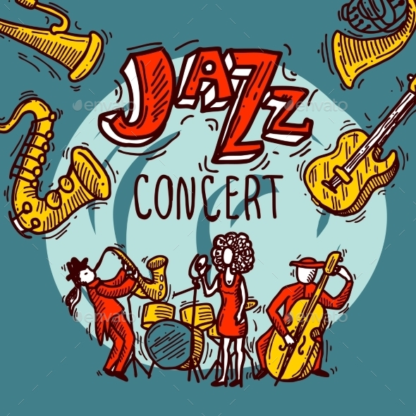 GraphicRiver Jazz Sketch Poster 10062366