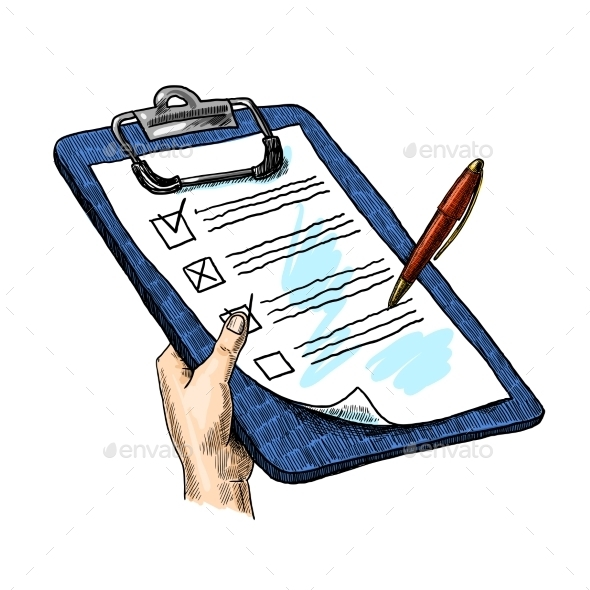 Hand With Clipboard