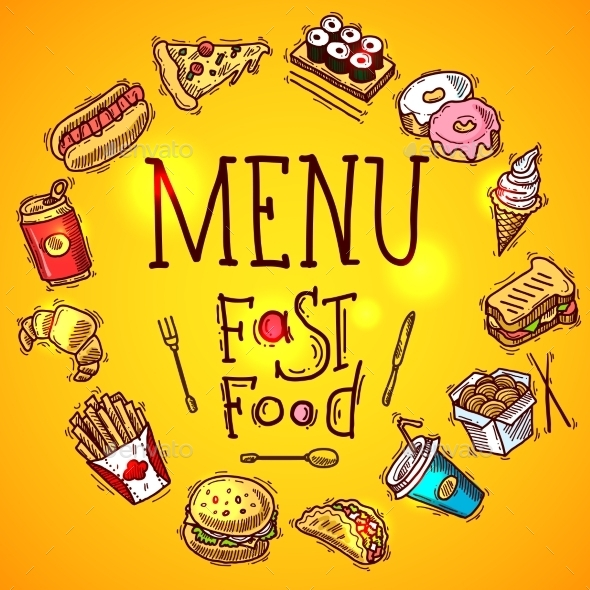 GraphicRiver Fast Food Menu 10062384