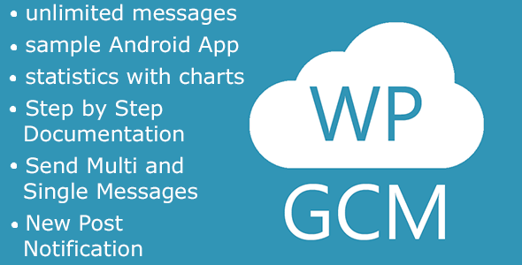 Write Messages to your App from your WordPress Backend Write messages with Google Cloud Messaging directly from your WordPress Admin Page to your App. Full list