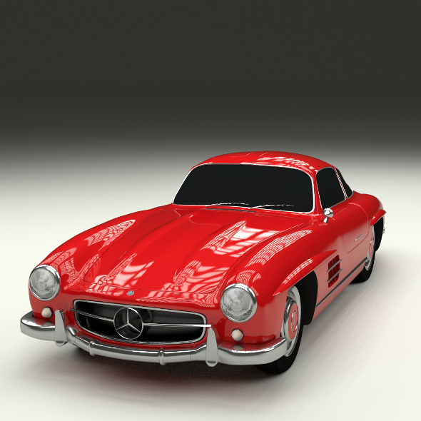 Rigged Mercedes 300SL W198 - 3DOcean Item for Sale