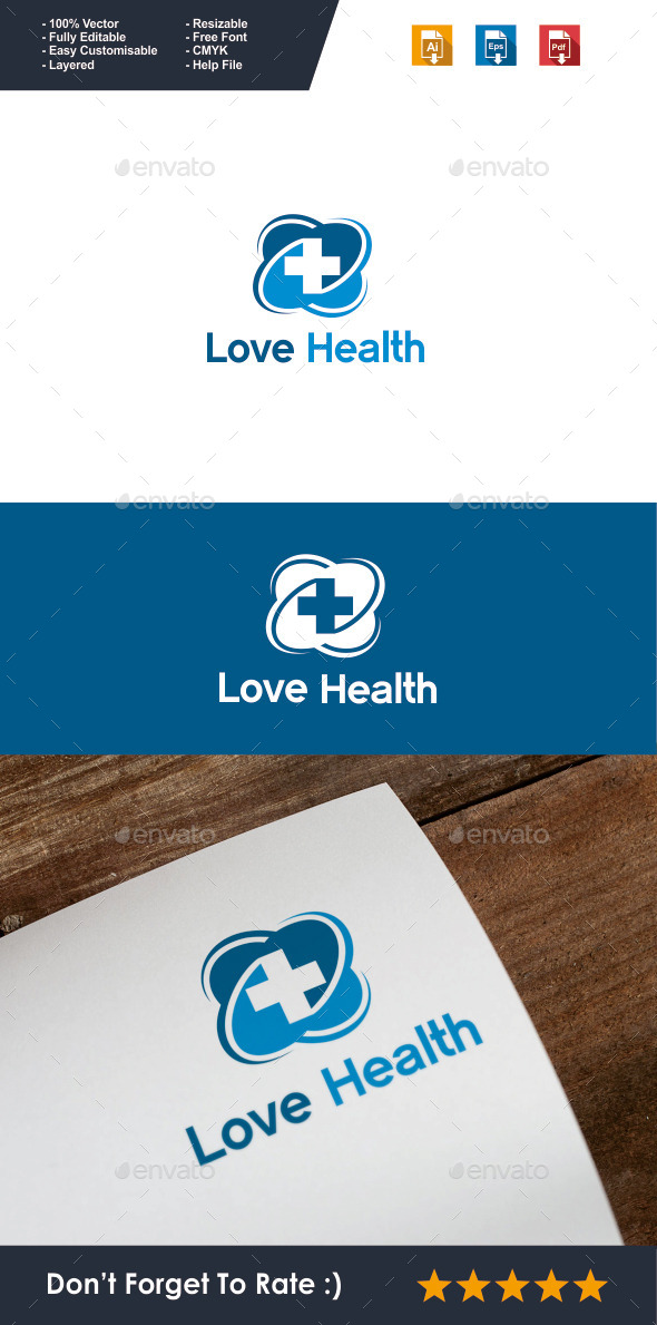 GraphicRiver Love Health Logo 10062714