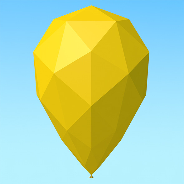 3DOcean Low Poly Balloon 10062719