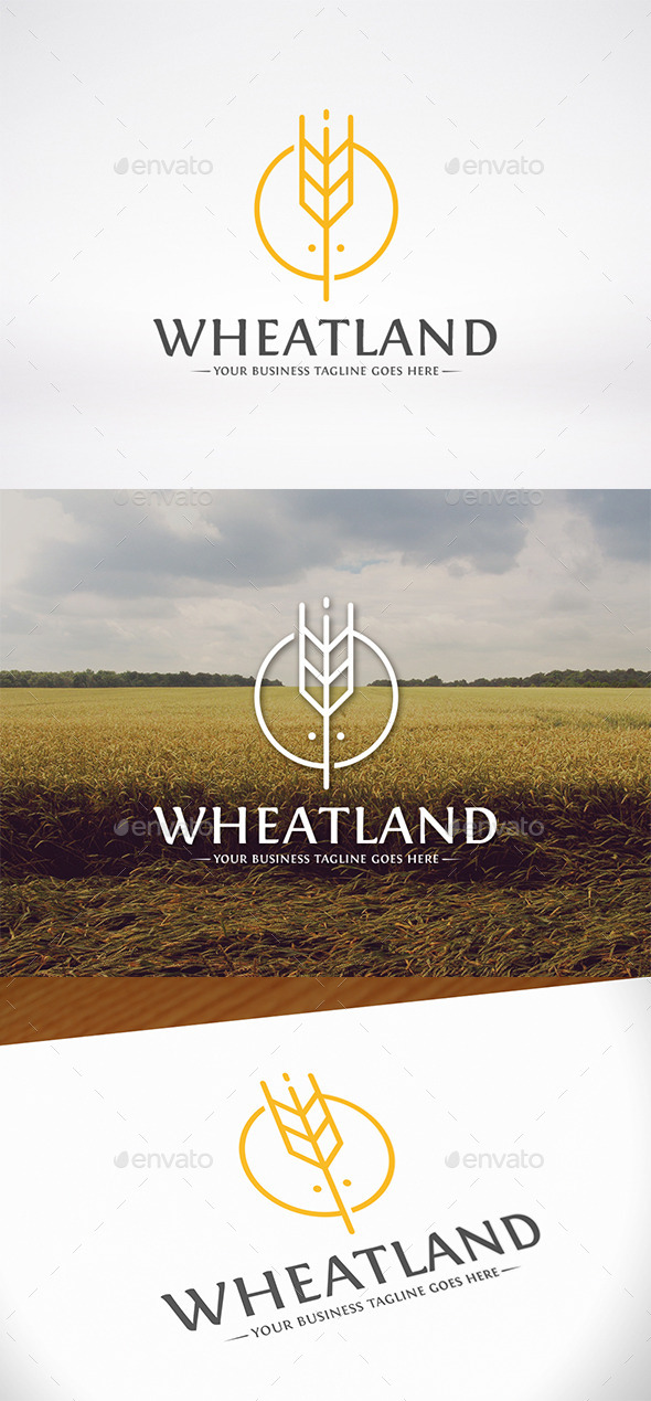 GraphicRiver Wheat Land Logo Template 10062746