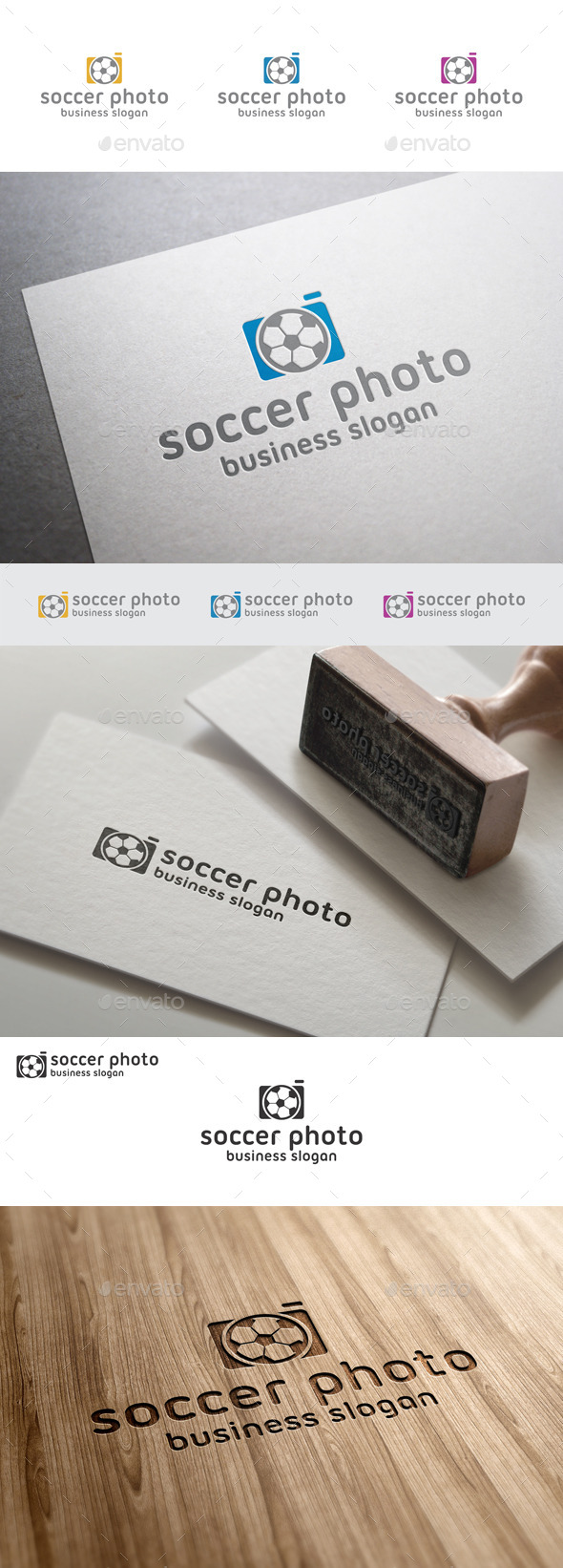 GraphicRiver Soccer Football Photo Logo Template 10062751