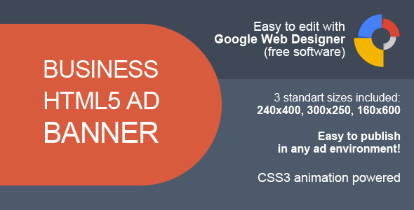 CodeCanyon HTML5 Business Ad Banner 10062795