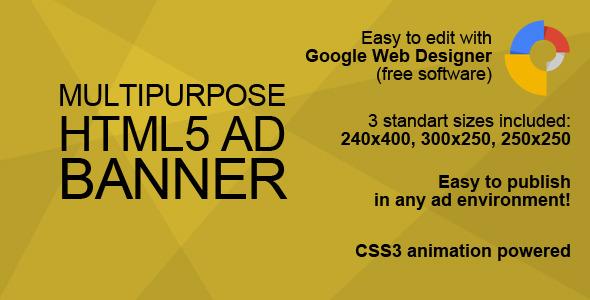 CodeCanyon HTML5 Multipurpose Ad Banner 10062802