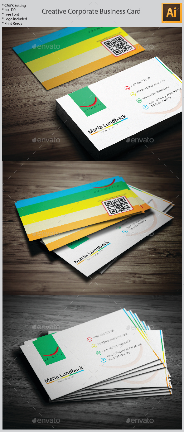 GraphicRiver Creative Corporate Business Card 10062837