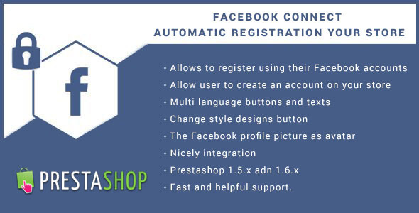 CodeCanyon Facebook Connect for Prestashop Login Button 10062843