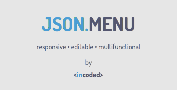 CodeCanyon Incoded JSON Menu Component 10052391