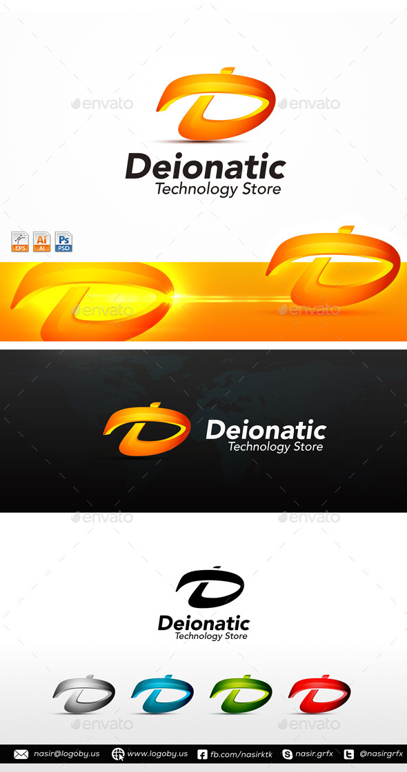 GraphicRiver D Letter Logo 10063008