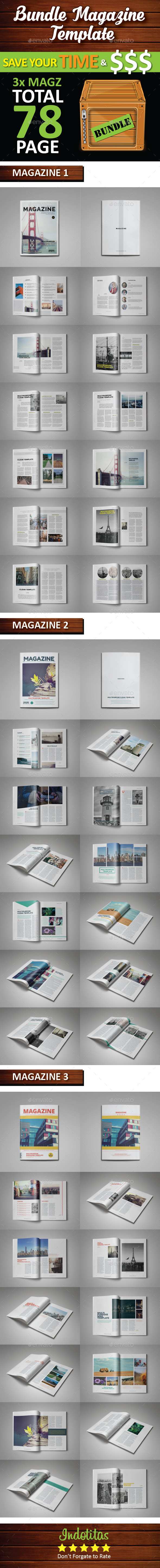 GraphicRiver Bundle Magazine Template 10063200