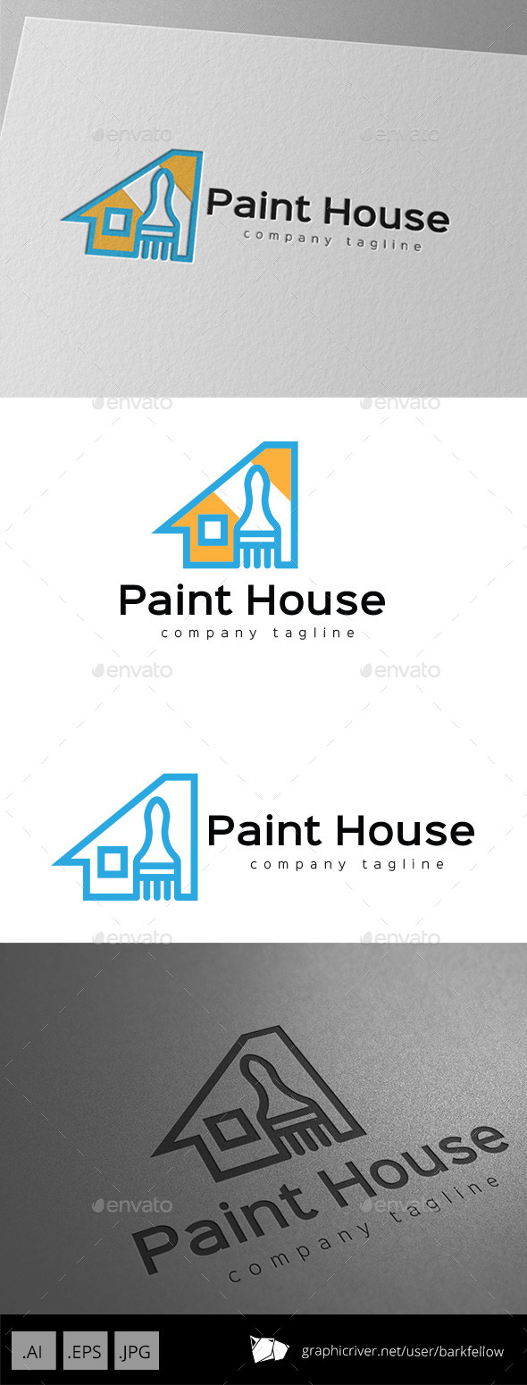 GraphicRiver House Paint Logo 10063353