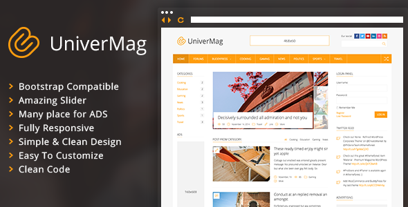 ThemeForest UniverMag WordPress News & Magazine Theme 9742781