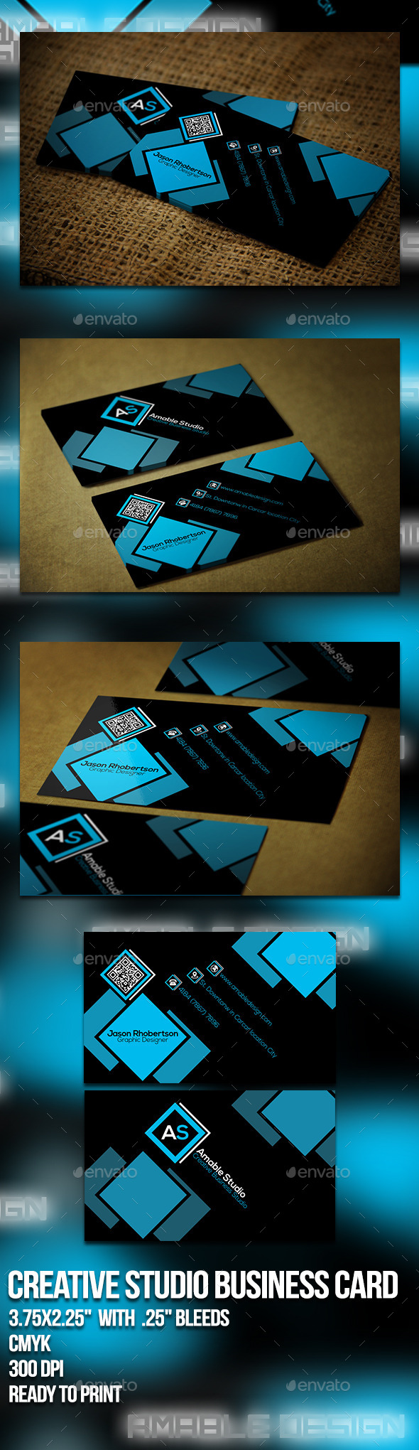 GraphicRiver Creative Studio Business Card 10063593