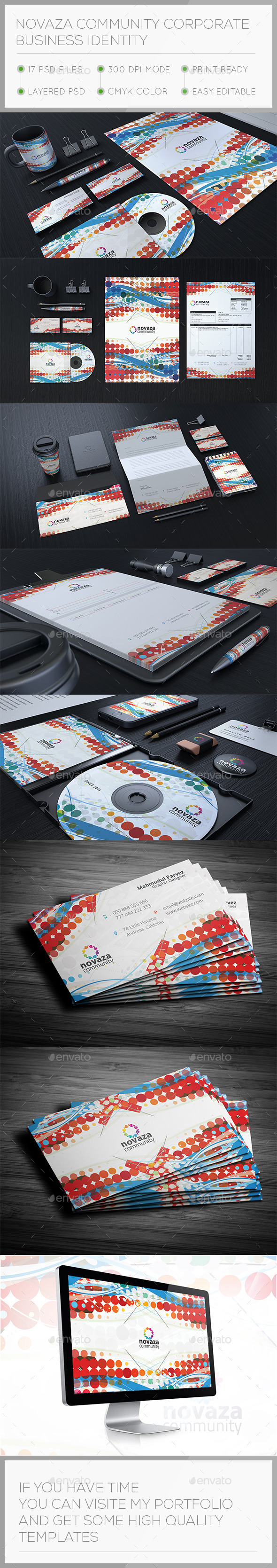 Novaza Corporate Stationary Identity