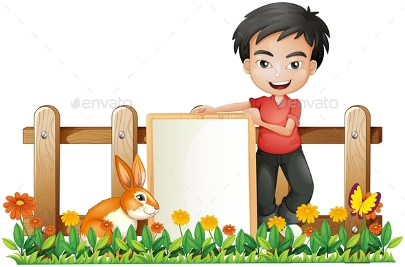 GraphicRiver Boy and a Bunny 10063994