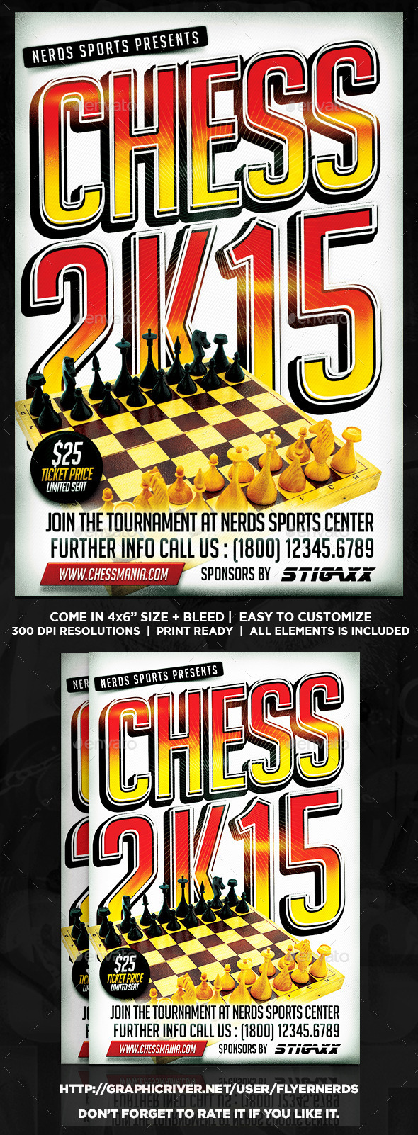 Chess 2K15 Tournament Flyer