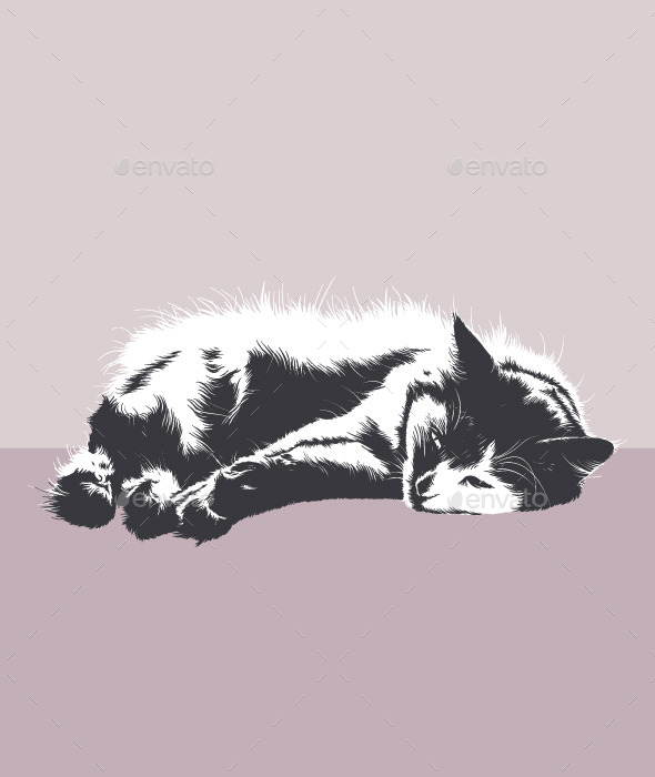 GraphicRiver Resting Cat 10064071