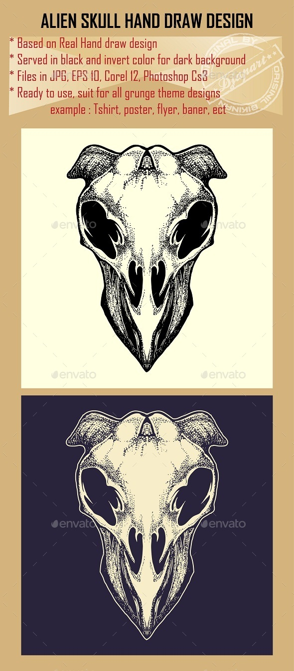 GraphicRiver Alien Skull 10064079