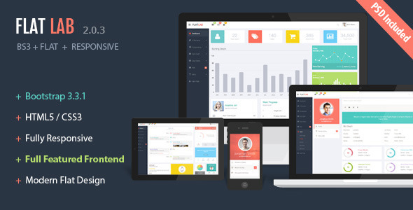 FlatLab - Bootstrap 3  Responsive Admin Template - Admin Templates Site Templates