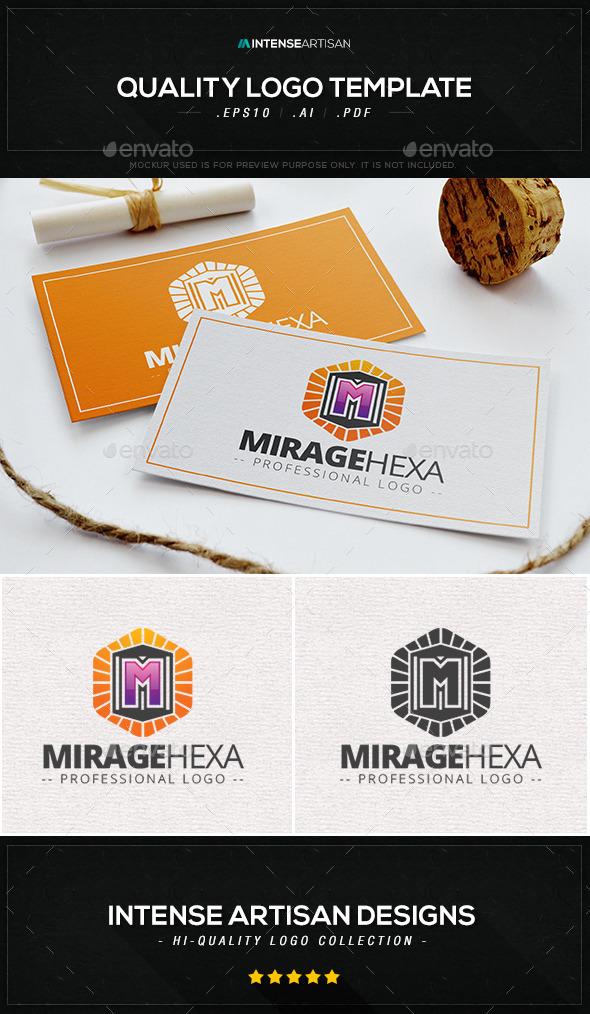 GraphicRiver Mirage Hexa Logo Template 10064364