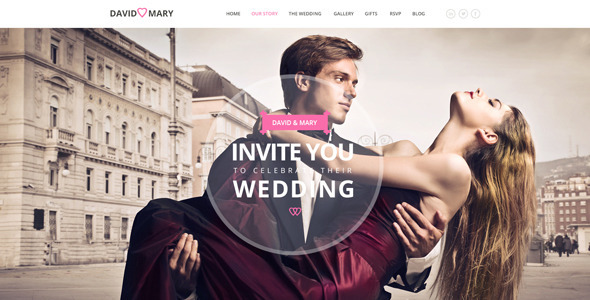 ThemeForest David & Mary Responsive Wedding Template 10064383