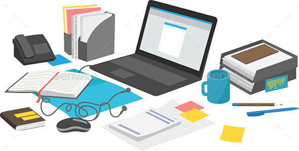 GraphicRiver Desk Items 10064415