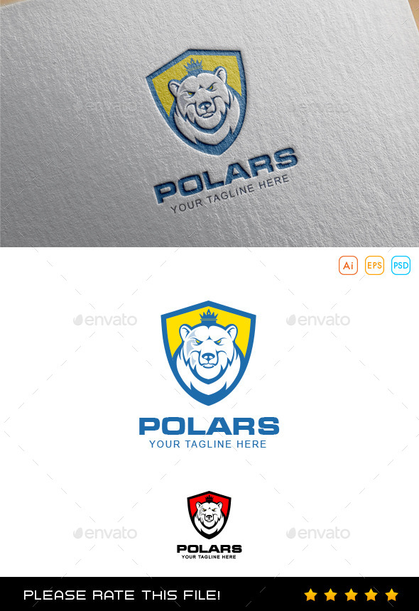 GraphicRiver Polar Bear Logo 10043026