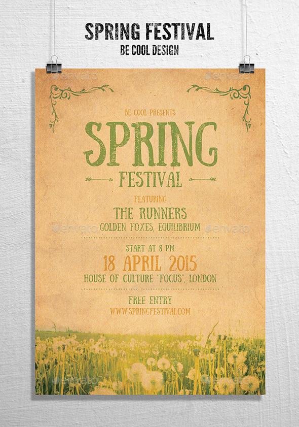GraphicRiver Spring Festival Flyer Poster 10027580