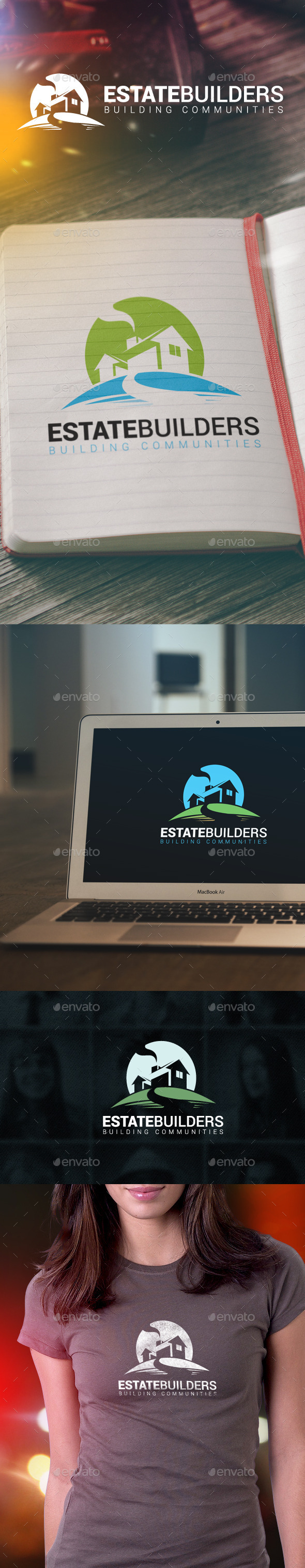 GraphicRiver Estate Builders Logo 10064609